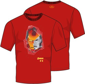Boys' UA Iron Man Duo Short Sleeve T-Shirt, ANTHEM RED, undefined