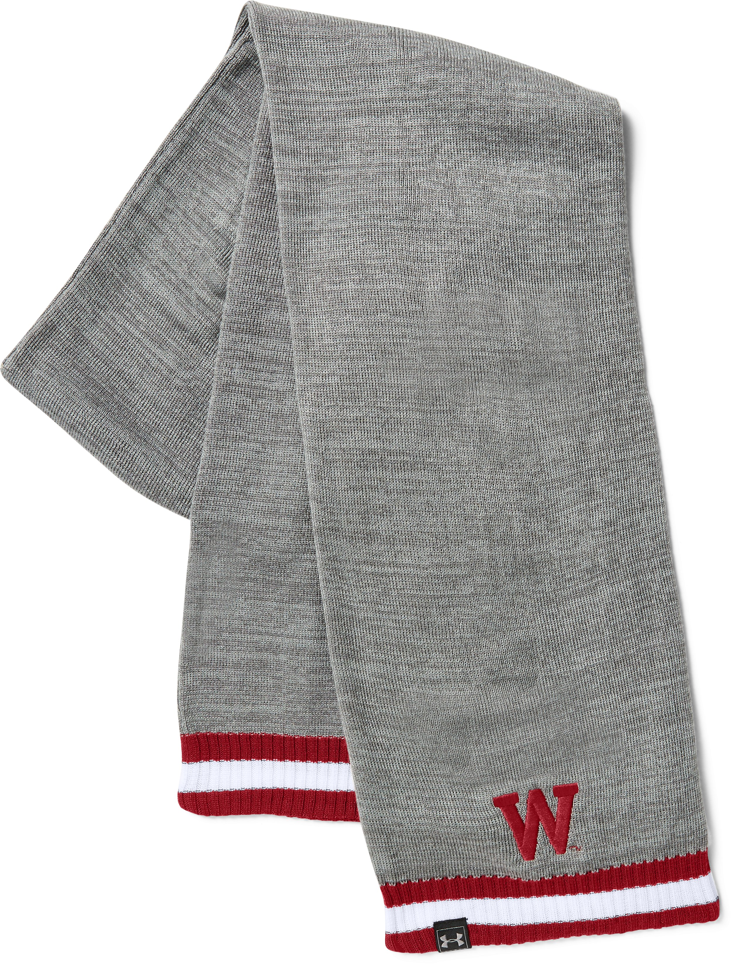 UA Wisconsin Iconic Stripe Scarf , Flawless, undefined