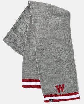 New Arrival Men's UA Wisconsin Iconic Stripe Scarf   1 Color $32.99