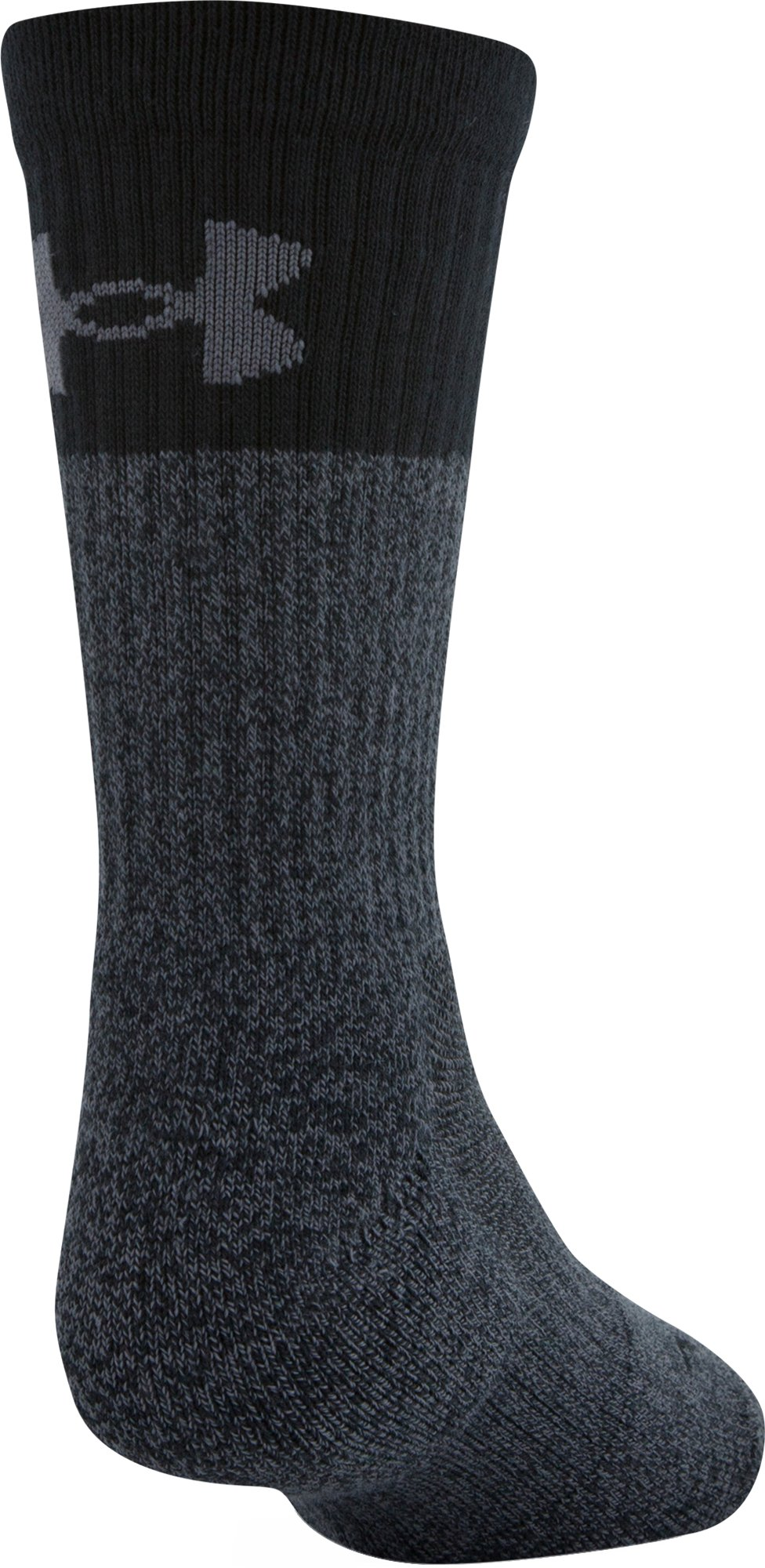 Boys UA Phenom 3.0 Crew Socks, Graphite,