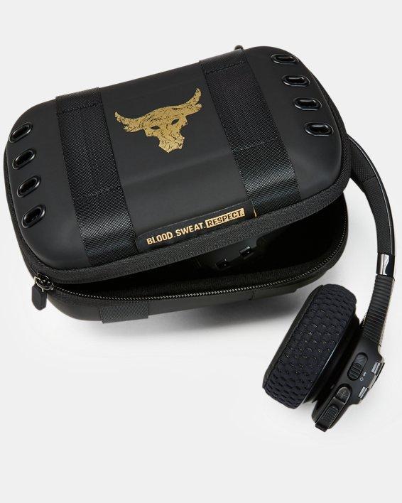 UA Sport Wireless Train Headphones — Project Rock Edition, Black, pdpMainDesktop image number 1