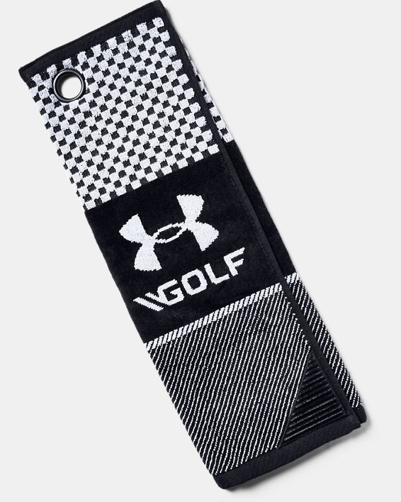 UA Bag Golf Towel, Black, pdpMainDesktop image number 0