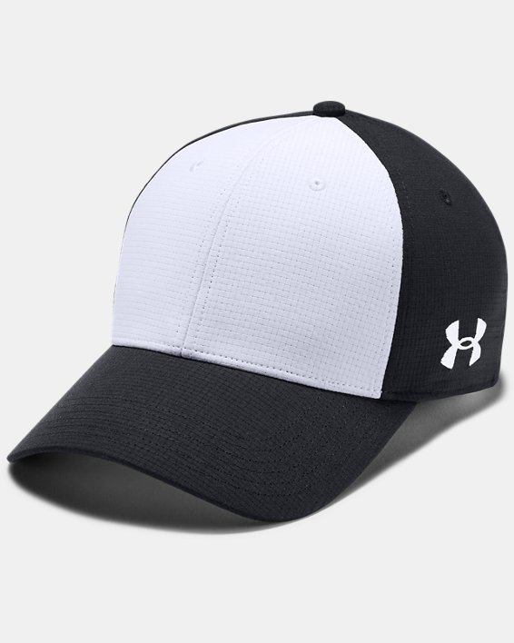 Men's UA ArmourVent™ Colorblock Cap, Black, pdpMainDesktop image number 0