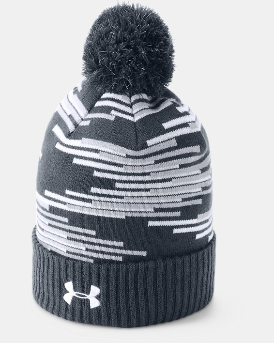 Boy's MLB Team Pom Beanie, Navy, pdpMainDesktop image number 1