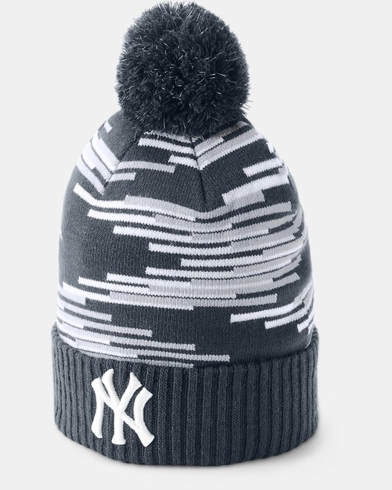 Boy's MLB Team Pom Beanie, Navy, pdpMainDesktop image number 0