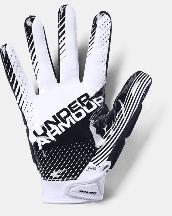 Men's UA Highlight - NFL Football Gloves, White, pdpMainDesktop image number 1