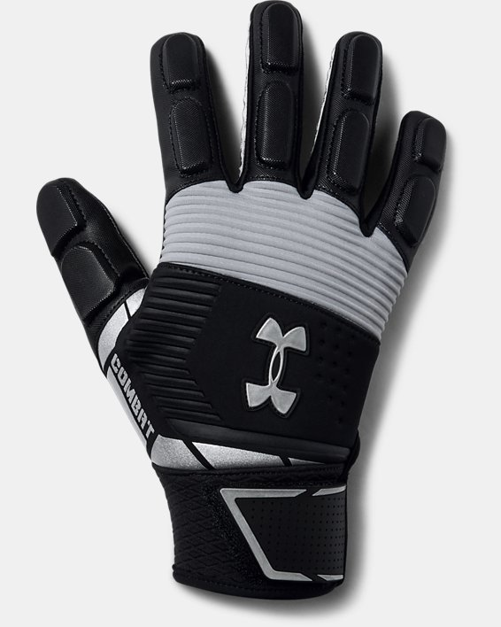 Men's UA Combat - NFL Football Gloves, Black, pdpMainDesktop image number 0