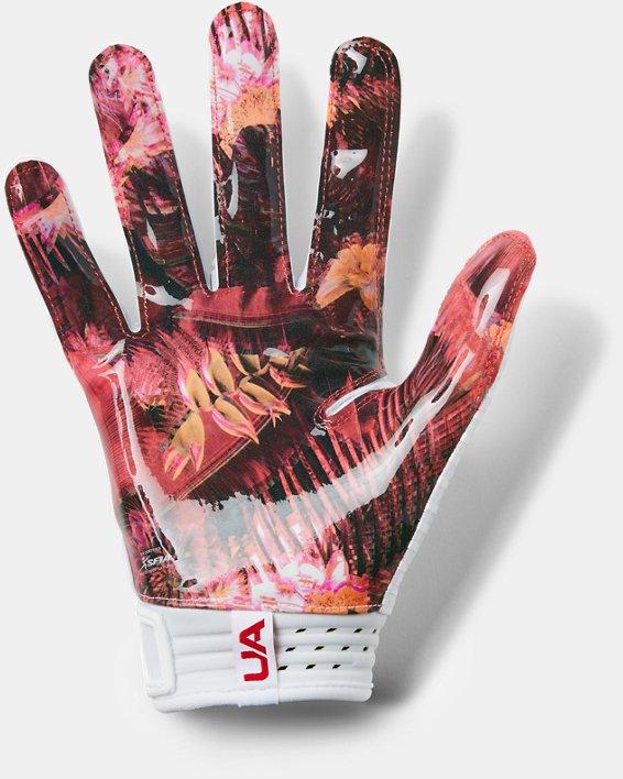 Men's UA Spotlight LE - NFL Football Gloves, White, pdpMainDesktop image number 1