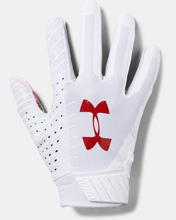Men's UA Spotlight LE - NFL Football Gloves, White, pdpMainDesktop image number 0