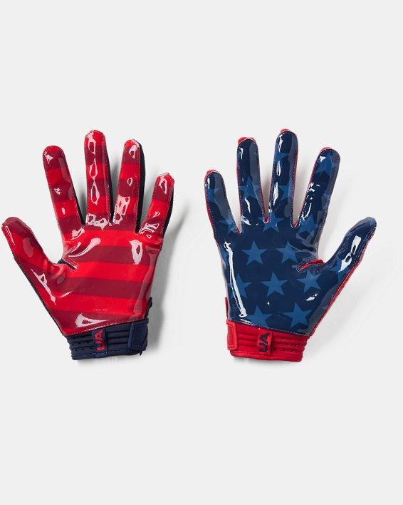 Men's UA Spotlight LE - NFL Football Gloves, Navy, pdpMainDesktop image number 1