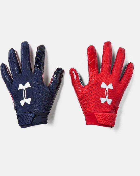 Men's UA Spotlight LE - NFL Football Gloves, Navy, pdpMainDesktop image number 0