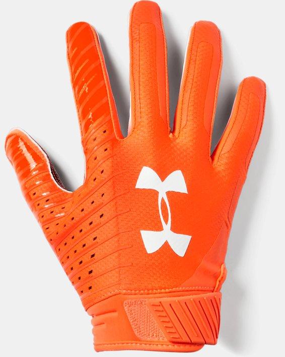 Men's UA Spotlight LE - NFL Football Gloves, Orange, pdpMainDesktop image number 0