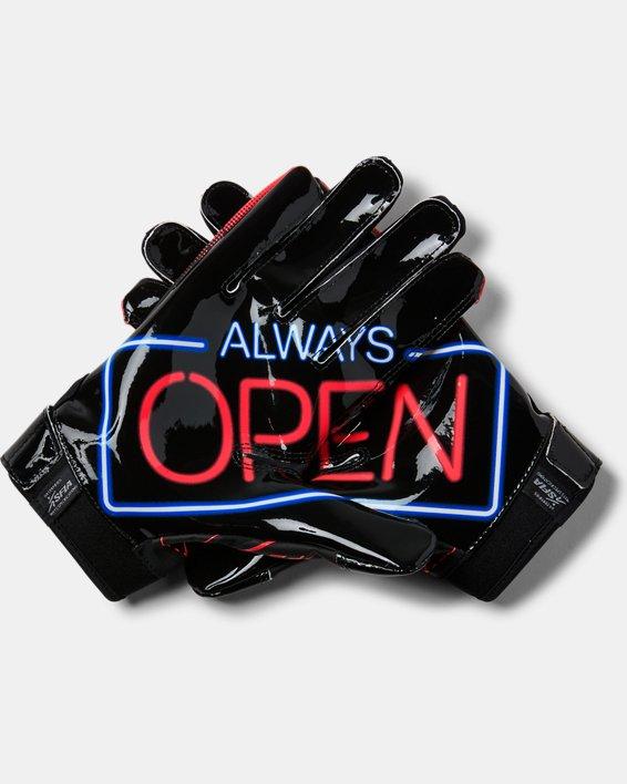 Men's UA F6 Novelty Football Gloves, Black, pdpMainDesktop image number 1