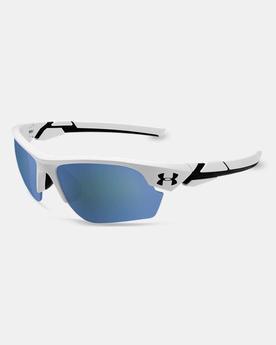 Kids' UA TUNED™ Baseball Windup Sunglasses, White, pdpMainDesktop image number 0