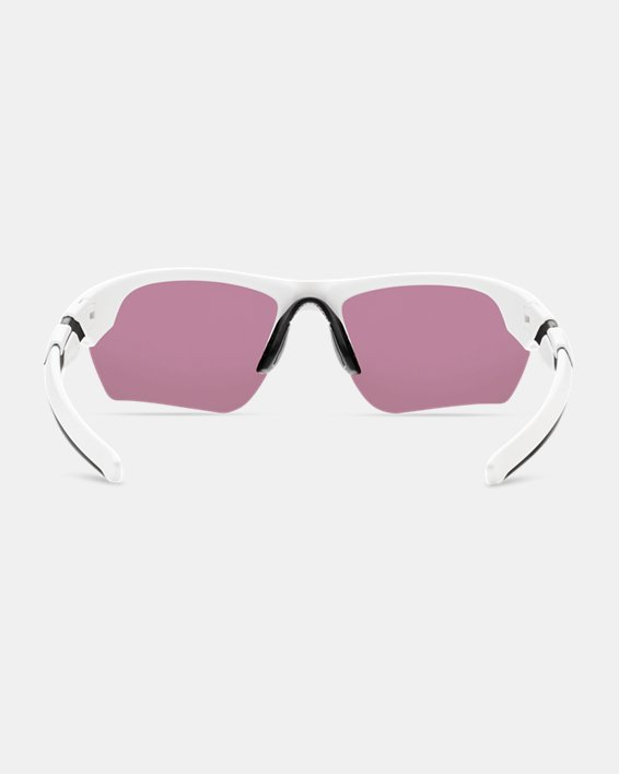 Kids' UA TUNED™ Baseball Windup Sunglasses, White, pdpMainDesktop image number 1