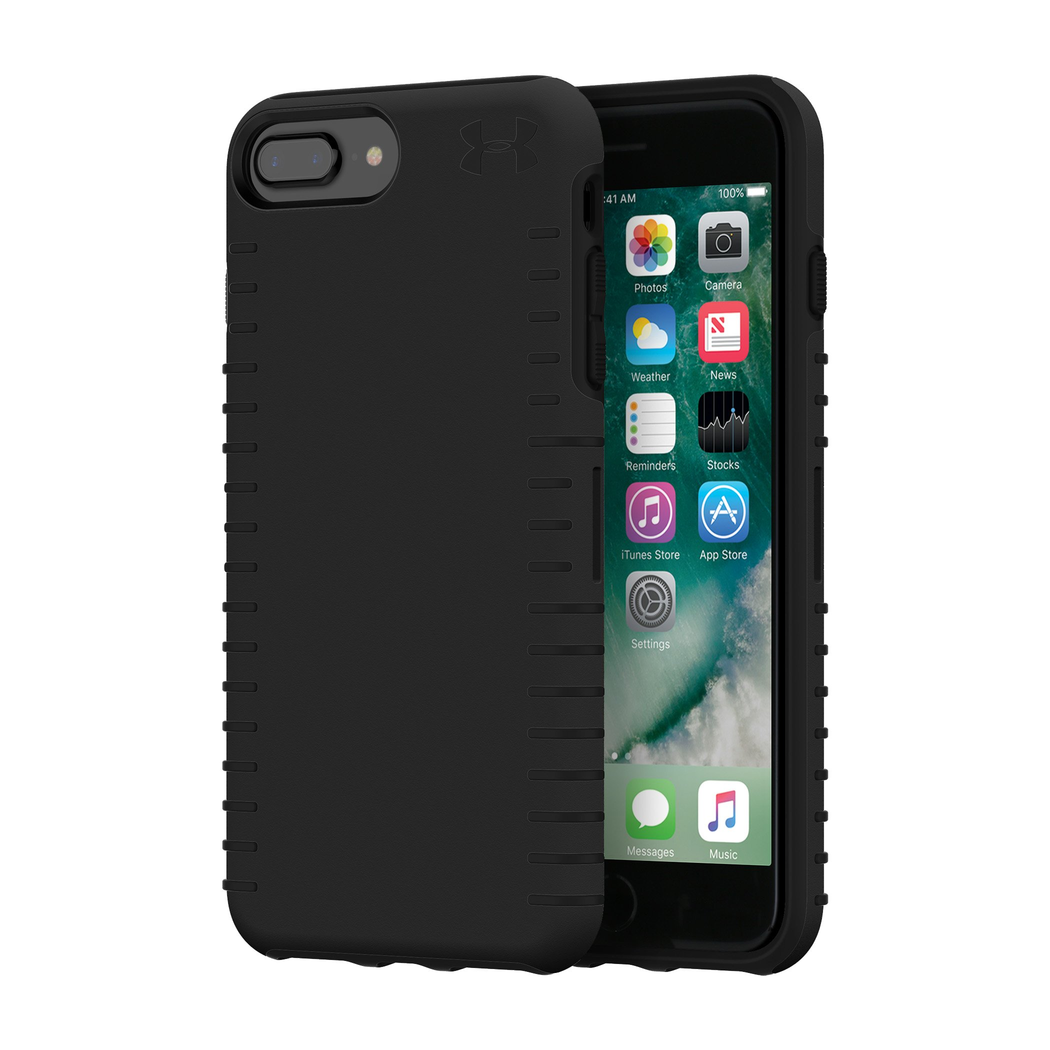 UA Protect Grip Case for iPhone 8 Plus/7 Plus/6 Plus/6s Plus, Black
