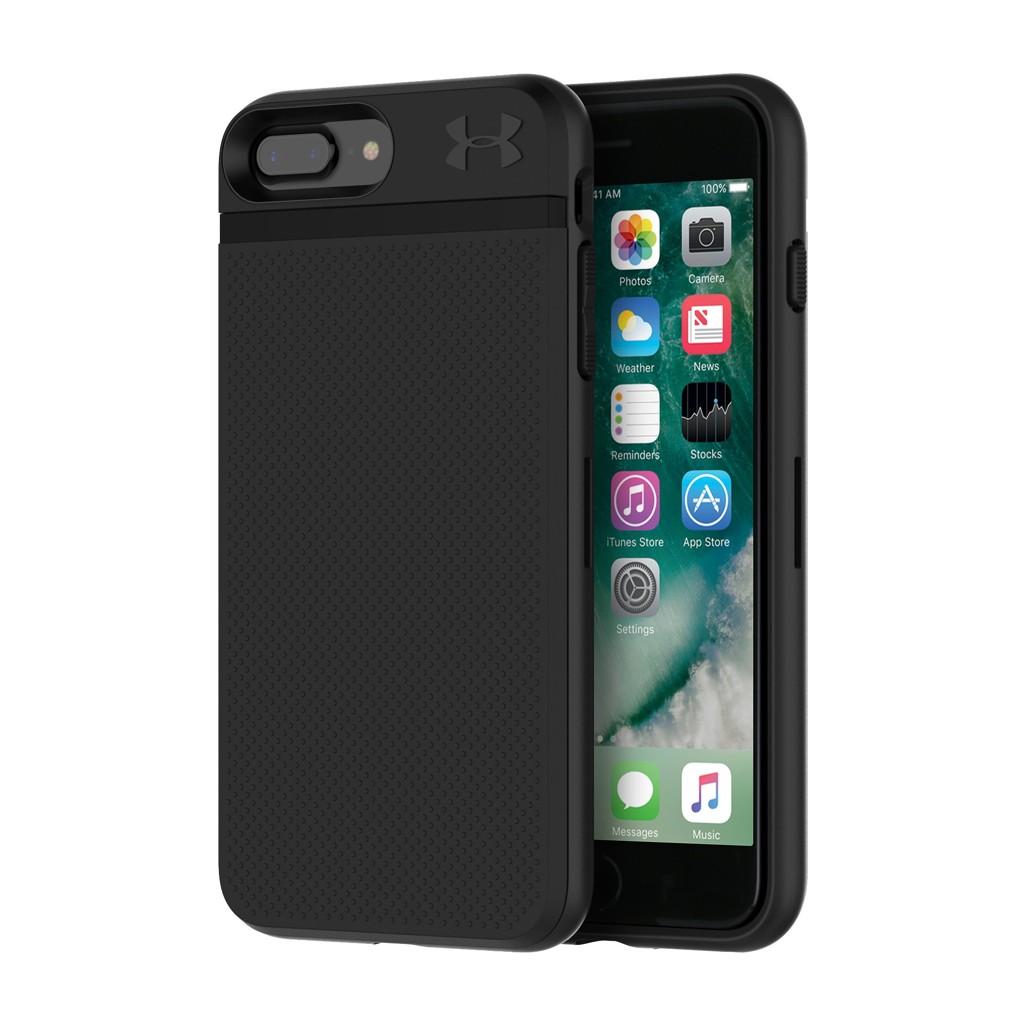 stash cases UA Protect Stash Case for iPhone 8 Plus/7 Plus GREAT PHONE CASE...I love that I can store my credit cards & ID in the back of the phone and no one can see it, plus it's really easy to open with one hand....I would definitely recommend this to others to either buy for themselves or as a gift.