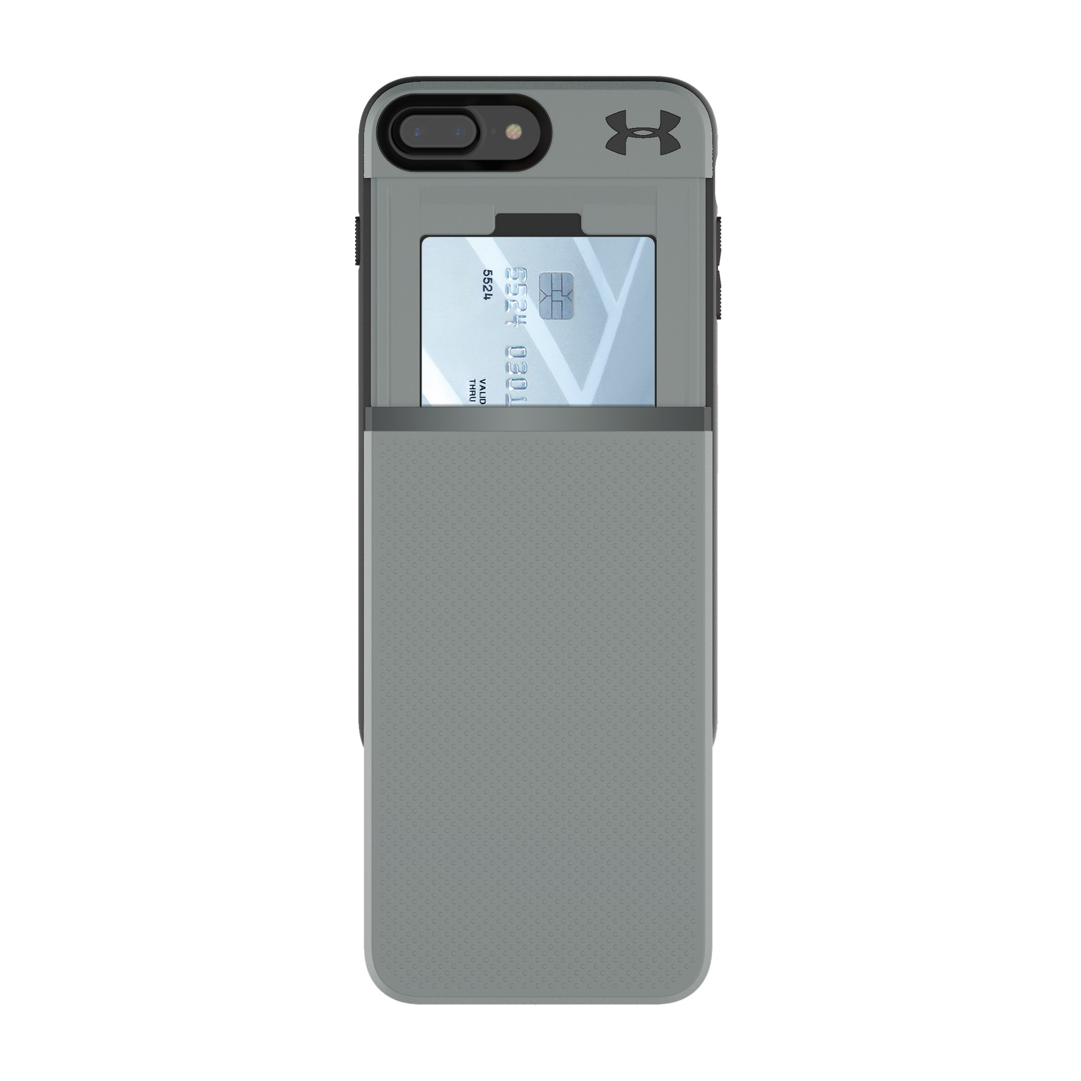 UA Protect Stash Case for iPhone 8 Plus/7 Plus, Graphite,