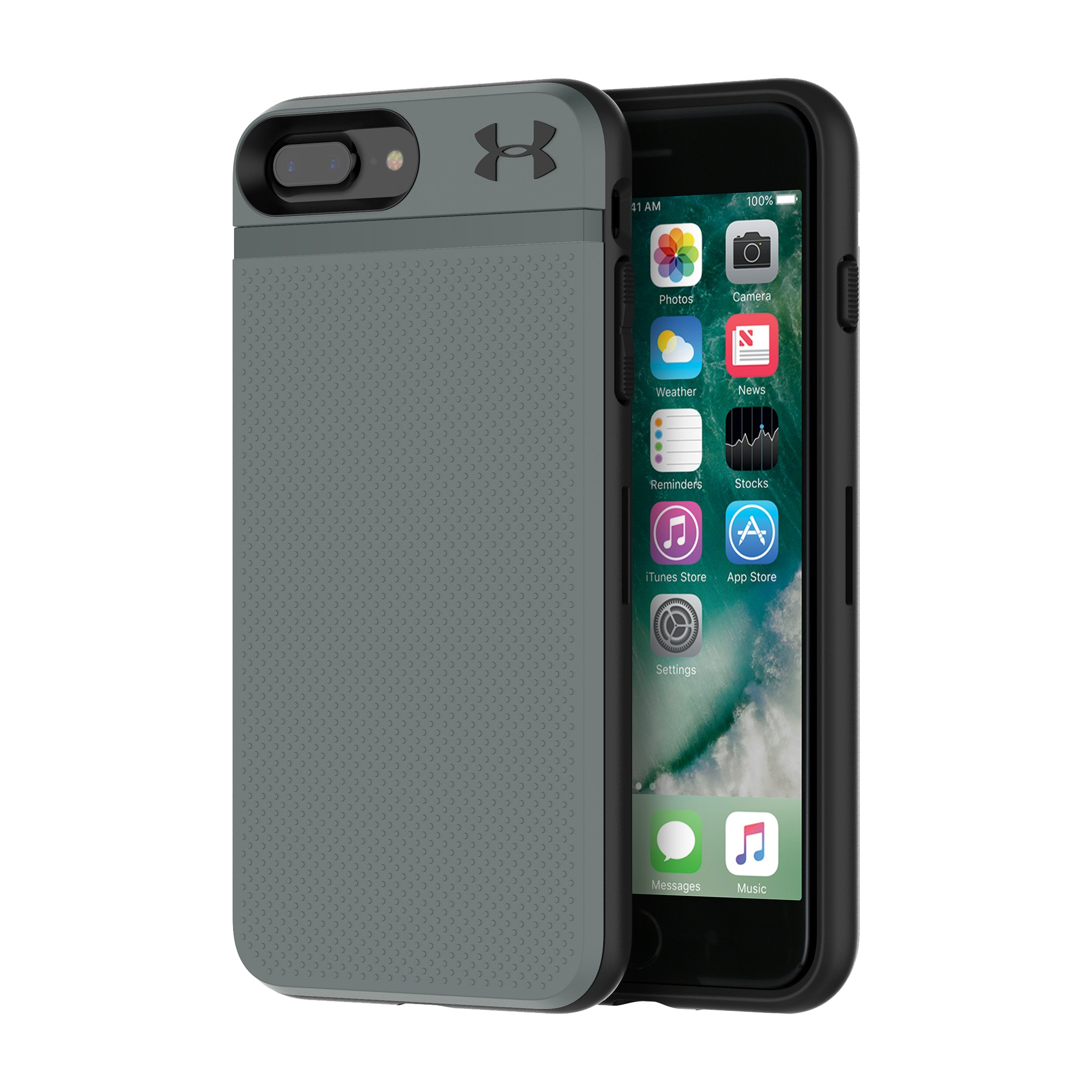 UA Protect Stash Case for iPhone 8 Plus/7 Plus, Graphite, undefined