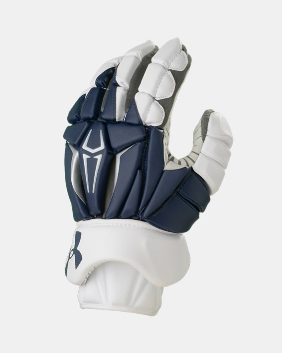Men's UA Command Pro 2.0 Lacrosse Gloves, Navy, pdpMainDesktop image number 0