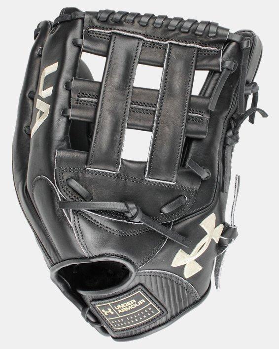 "UA Flawless 12.75"" H-Web Baseball Fielding Glove, Black, pdpMainDesktop image number 1"