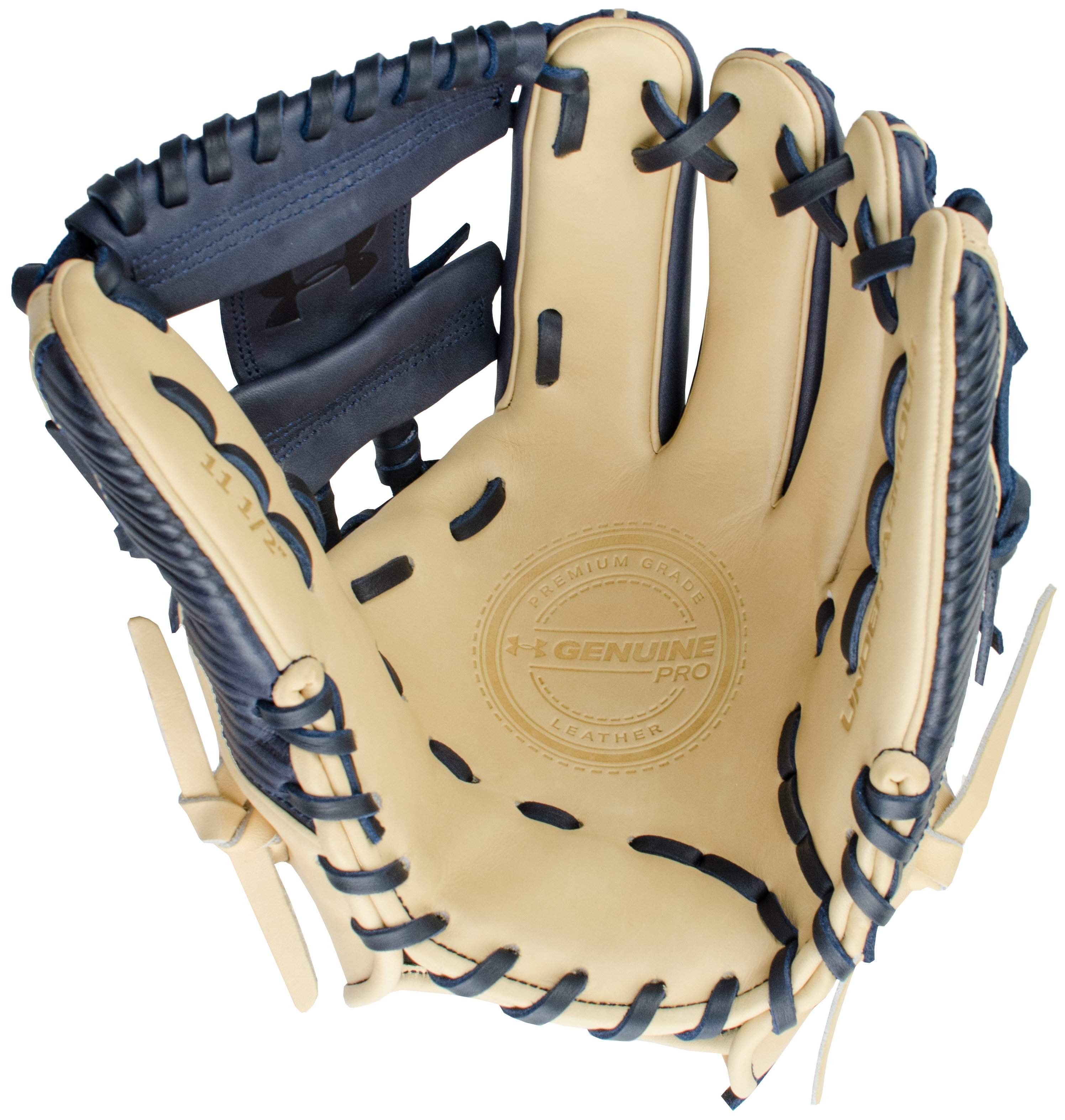 "UA Genuine Pro 11.50"" Baseball Fielding Glove, Midnight Navy,"