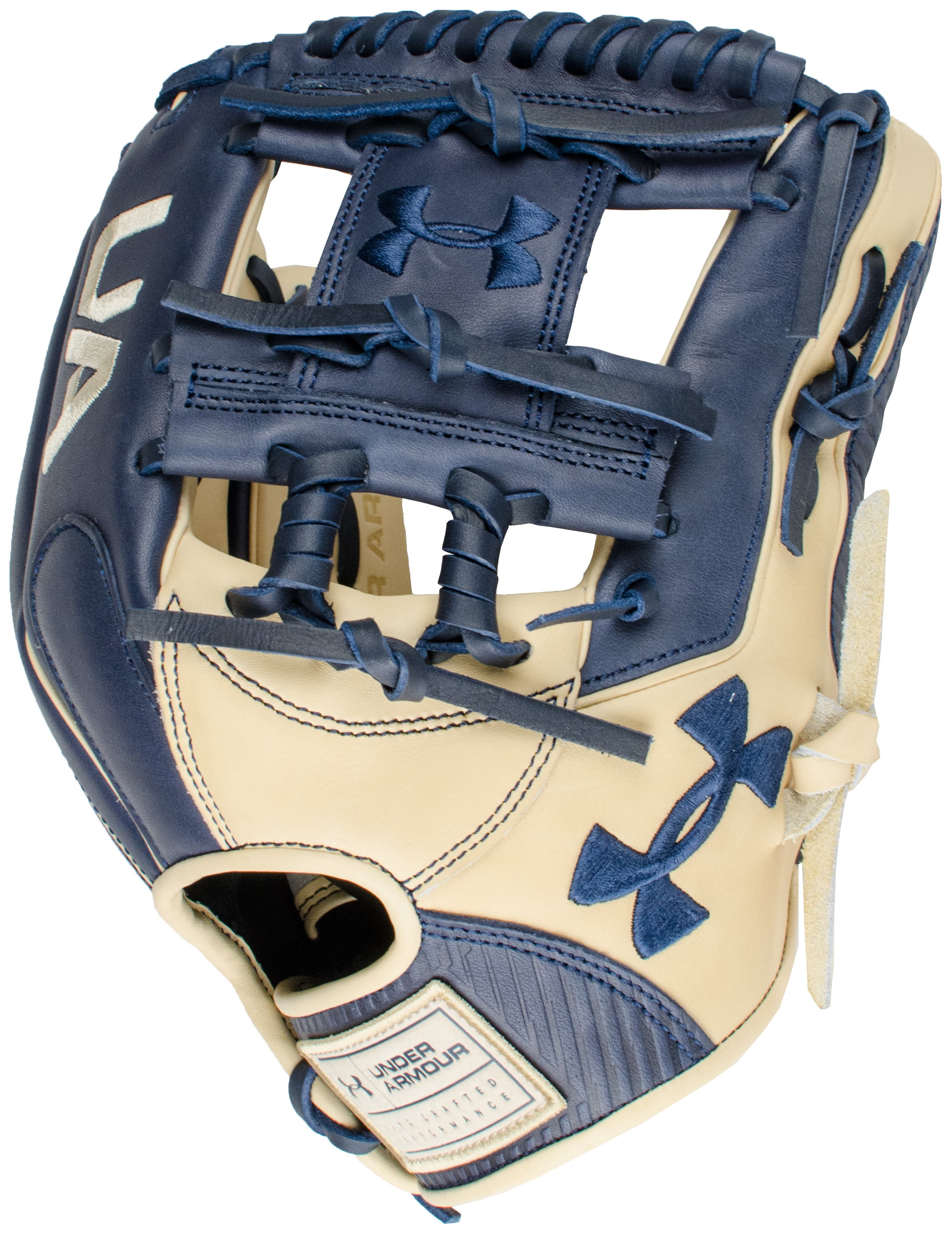 "UA Genuine Pro 11.50"" Baseball Fielding Glove, Midnight Navy, zoomed"