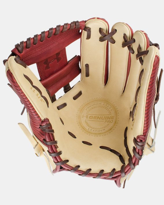"UA Genuine Pro 11.50"" Baseball Fielding Glove, Red, pdpMainDesktop image number 0"