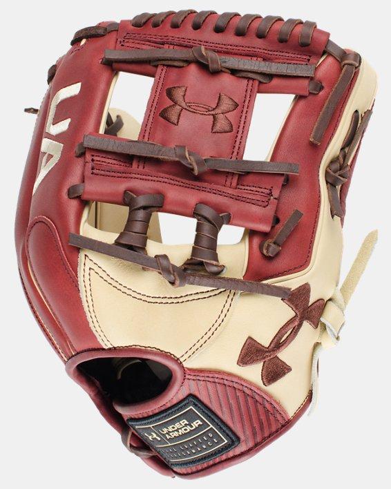 "UA Genuine Pro 11.50"" Baseball Fielding Glove, Red, pdpMainDesktop image number 1"