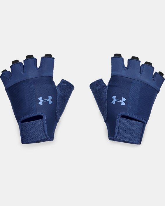 Men's UA Training Gloves, Blue, pdpMainDesktop image number 0