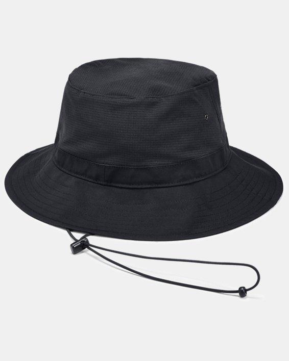 Men's UA ArmourVent™ Warrior Bucket Hat, Black, pdpMainDesktop image number 1