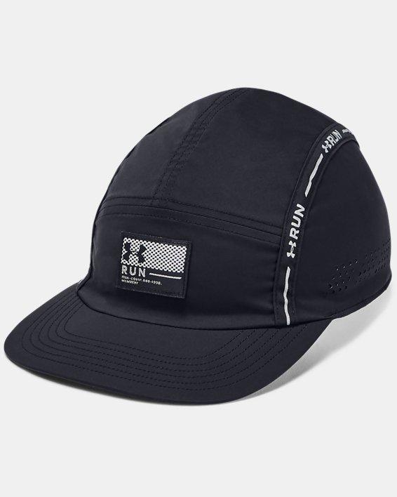 Men's UA Run Crew 3.0 Cap, Black, pdpMainDesktop image number 0