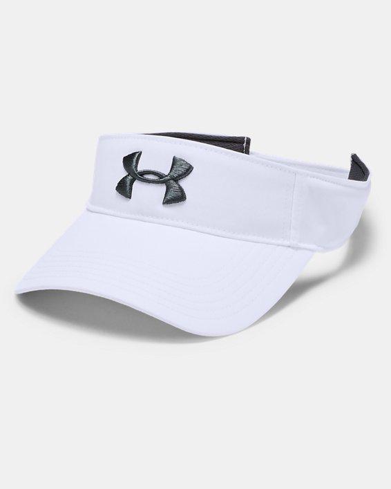 Men's UA Core Golf Visor, White, pdpMainDesktop image number 0