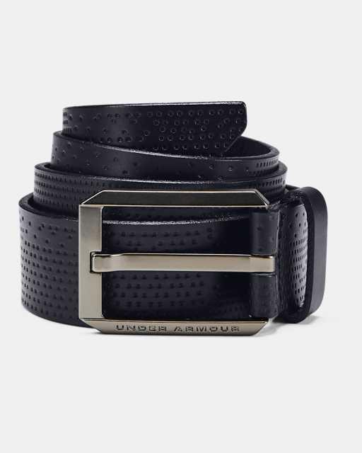 Men UA Laser Perf Leather Belt