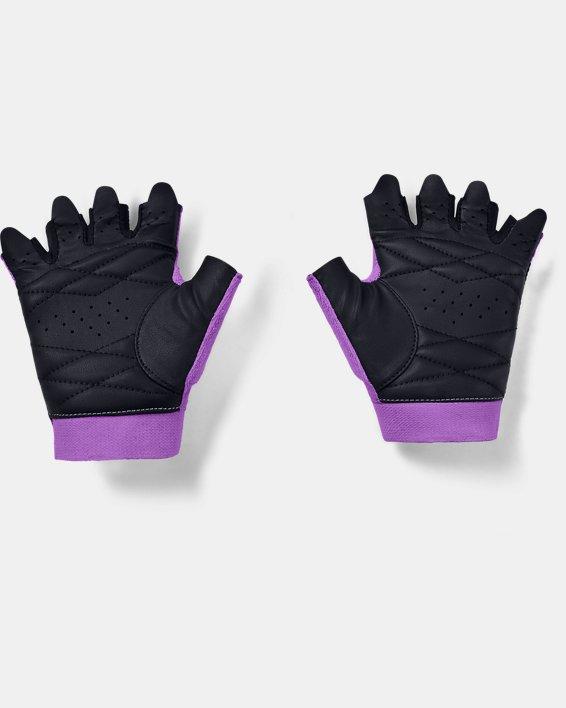 Women's UA Light Training Gloves, Purple, pdpMainDesktop image number 1