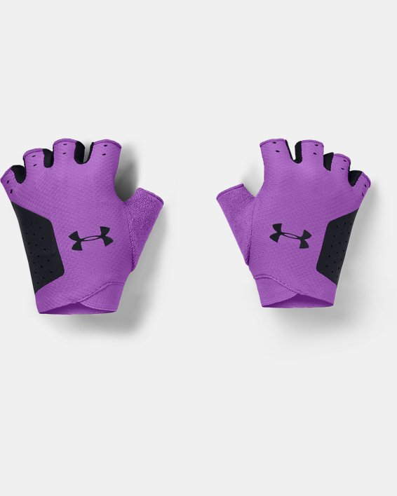 Women's UA Light Training Gloves, Purple, pdpMainDesktop image number 0