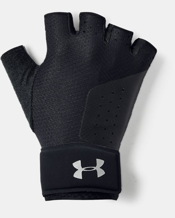 Women's UA Medium Training Gloves, Black, pdpMainDesktop image number 0