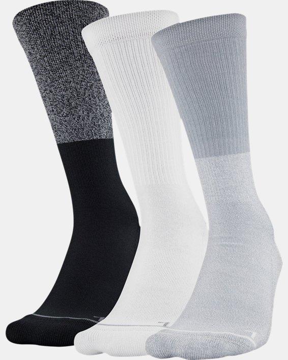 Men's UA Phenom Crew Socks 3-Pack, Gray, pdpMainDesktop image number 9