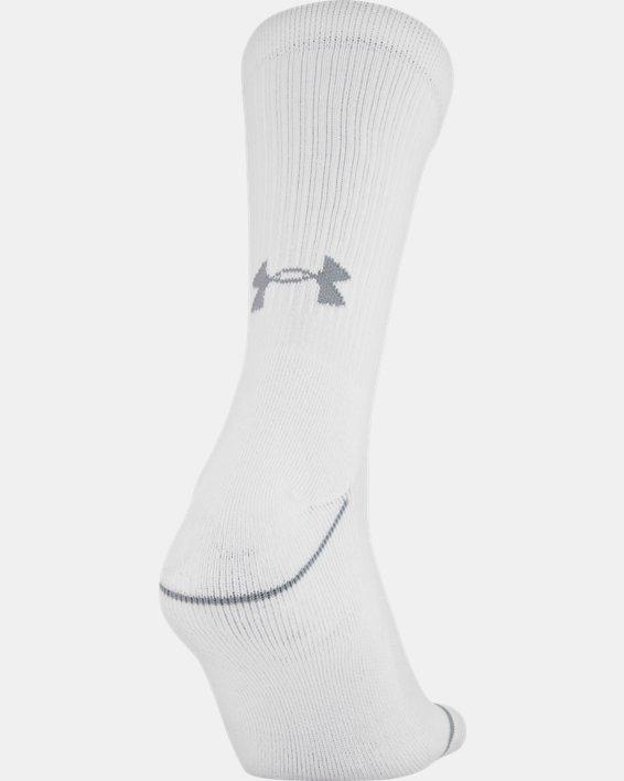 Men's UA Phenom Crew Socks 3-Pack, Gray, pdpMainDesktop image number 4