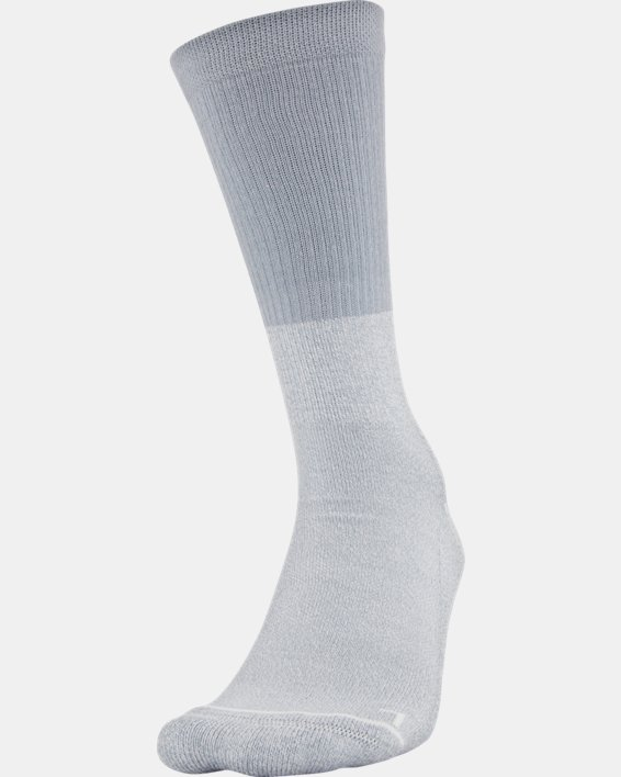 Men's UA Phenom Crew Socks 3-Pack, Gray, pdpMainDesktop image number 0