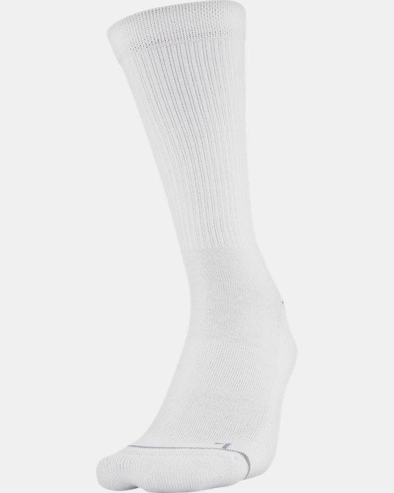 Men's UA Phenom Crew Socks 3-Pack, Gray, pdpMainDesktop image number 1