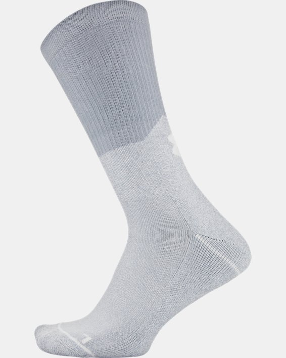 Men's UA Phenom Crew Socks 3-Pack, Gray, pdpMainDesktop image number 6