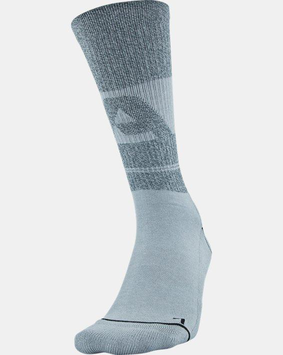 Men's UA Phenom Crew Novelty – 3-Pack Socks, Gray, pdpMainDesktop image number 2