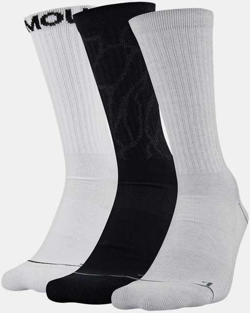 Men's UA Phenom Crew Novelty – 3-Pack Socks