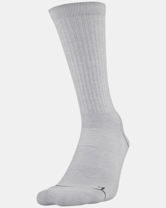 Men's UA Phenom Crew Novelty – 3-Pack Socks, Gray, pdpMainDesktop image number 0