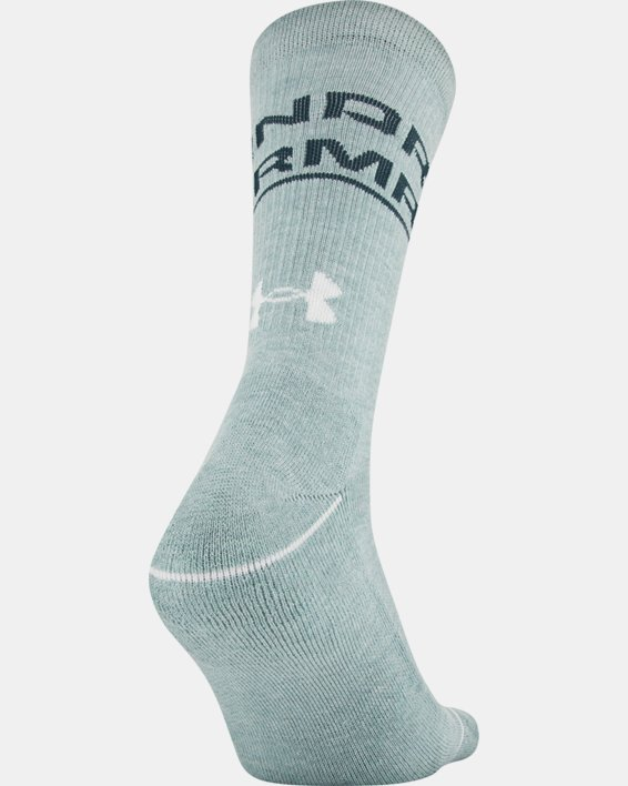 Men's UA Phenom Crew Novelty – 3-Pack Socks, White, pdpMainDesktop image number 5