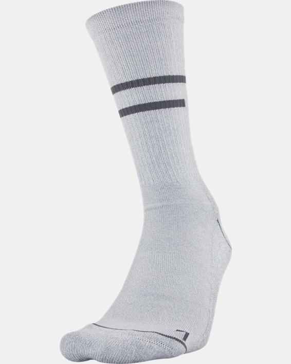 Men's UA Phenom Crew Novelty – 3-Pack Socks, White, pdpMainDesktop image number 0