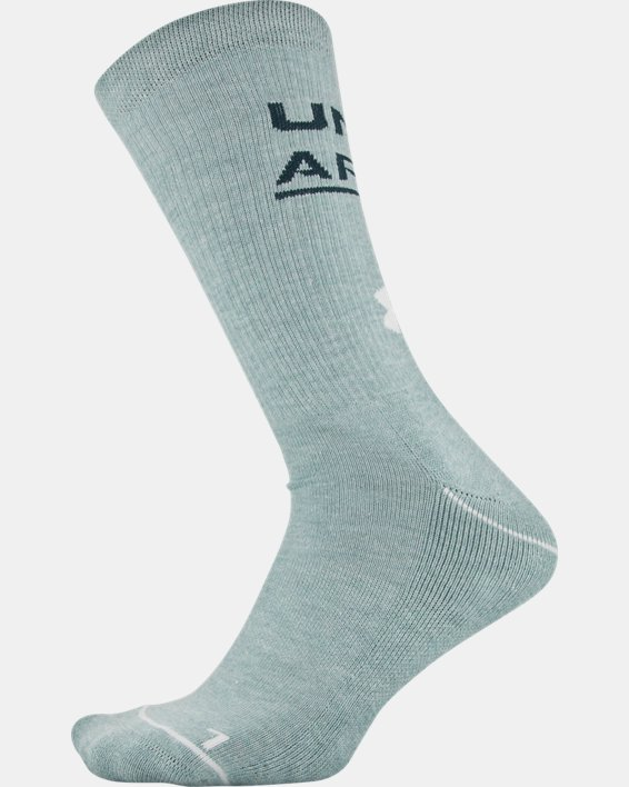 Men's UA Phenom Crew Novelty – 3-Pack Socks, White, pdpMainDesktop image number 8