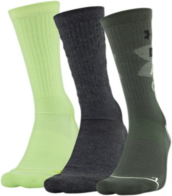 3-Pair Under Armour Phenom 3.0 Crew Socks