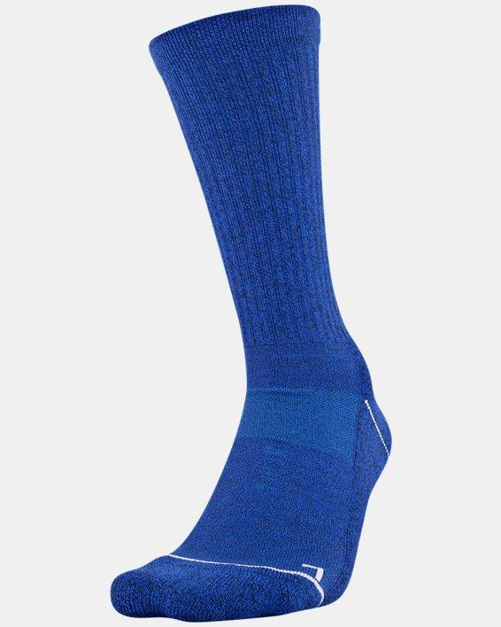 Men's UA Phenom Crew Novelty – 3-Pack Socks, Blue, pdpMainDesktop image number 0